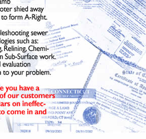 A right plumbing and sewer about us for 13 bureau ims llc